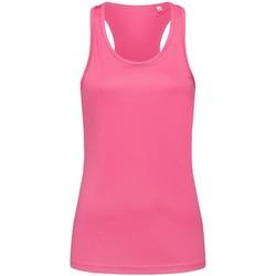 textil Mujer Camisetas sin mangas Stedman  Rosa Dulce