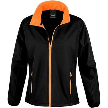 textil Mujer Polaire Result R231F Negro/naranja