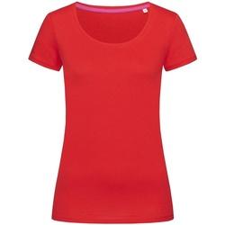 textil Mujer Camisetas manga corta Stedman Stars  Rojo pasión