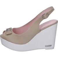 Zapatos Mujer Sandalias Lancetti sandalias lona beige