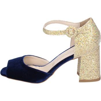 Zapatos Mujer Sandalias Olga Rubini sandalias terciopelo azul
