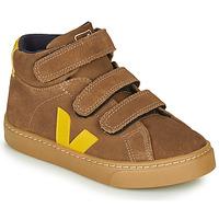 Zapatos Niños Zapatillas altas Veja SMALL-ESPLAR-MID Marrón / Amarillo