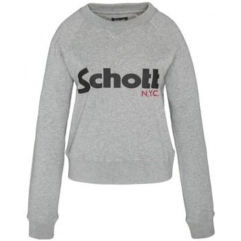 textil Mujer Sudaderas Schott Sweatshirt SW GINGER 1 W HEATHER GREY Gris