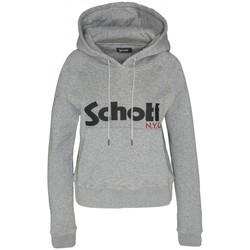 textil Mujer Sudaderas Schott Sweatshirt à capuche femme SW GINGER 2 W Heather Grey Gris
