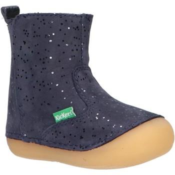 Zapatos Niña Botas urbanas Kickers 739125-10 SOCOOL Azul