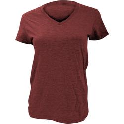 textil Mujer Camisetas manga corta Anvil Basic Rojo granate
