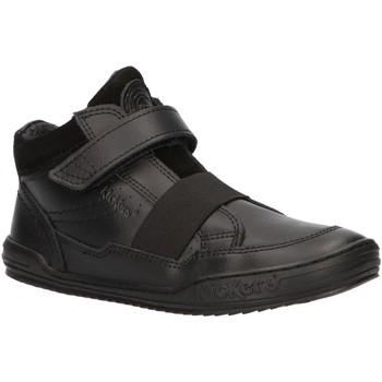 Zapatos Niños Zapatillas altas Kickers 744820-30 JINGLELAST Negro