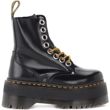 Zapatos Mujer Botas de caña baja Dr Martens Biker Jadon Max de piel negra Negro