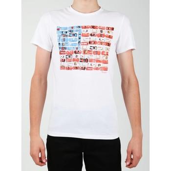 textil Hombre Camisetas manga corta Wrangler S/S Modern Flag Tee W7A45FK12 blanco
