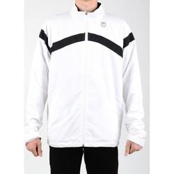 textil Hombre chaquetas de deporte K-Swiss Accomplish WVN JCKT 100627-102 blanco, negro