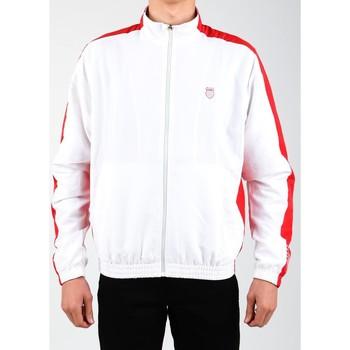 textil Hombre chaquetas de deporte K-Swiss Accomplish Jacket 100250-119 blanco, rojo