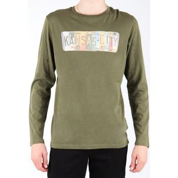 textil Hombre Camisetas manga larga Lee L848AI oliwkowozielony