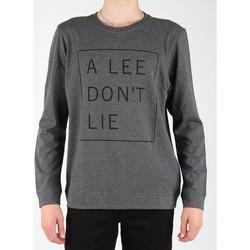 textil Hombre Camisetas manga larga Lee Dont Lie Tee LS L65VEQ06 gris