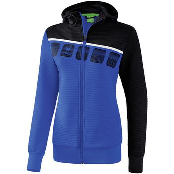 textil Mujer Chaquetas de deporte Erima Veste d'entrainement à capuche femme bleu/noir/blanc