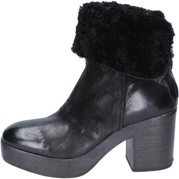Zapatos Mujer Botines Moma botines cuero negro