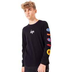 textil Niños Camisetas manga larga Hype  Negro