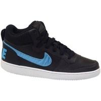 Zapatos Niños Zapatillas altas Nike Court Borough Mid EP GS Negros