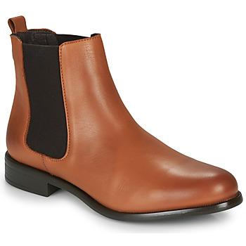 Zapatos Mujer Botas de caña baja André CARAMEL Cognac