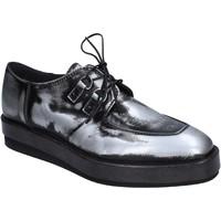 Zapatos Mujer Derbie Moma elegantes cuero brillante negro