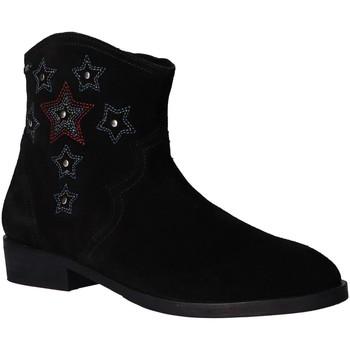 Zapatos Niña Botines Pepe jeans PGS50143 WEST Negro
