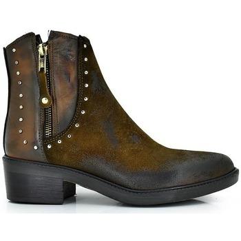 Zapatos Mujer Botines Exé Shoes BOTINES PIEL DETALLE CAÑA ARIZONA-325 Color Cuero