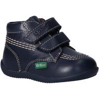 Zapatos Niño Botas de caña baja Kickers 653119-10 BILLY Azul