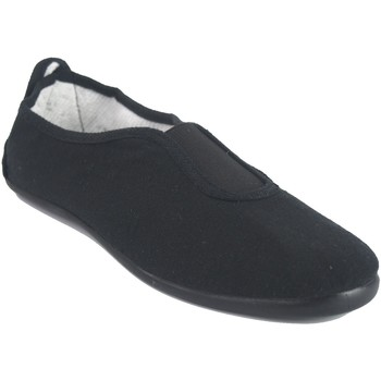 Zapatos Hombre Zapatillas bajas Bienve Lona señora  100 negro Negro
