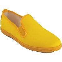 Zapatos Mujer Zapatillas bajas Bienve Lona señora  102 amarillo Amarillo