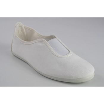 Zapatos Hombre Zapatillas bajas Bienve Lona señora  100 blanco Blanco