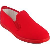 Zapatos Mujer Zapatillas bajas Bienve Lona señora  102 rojo Rojo