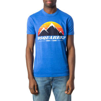 textil Hombre Camisetas manga corta Dsquared S74GD0291 Blu