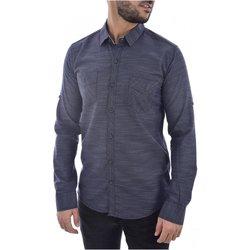 textil Hombre camisas manga larga Goldenim Paris Camisas 1022 azul