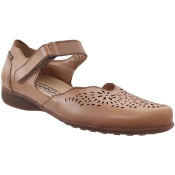 Zapatos Mujer Bailarinas-manoletinas Mobils By Mephisto Florina perf Cuero marrón claro