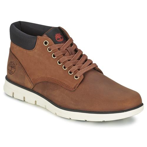Zapatos Hombre Zapatillas altas Timberland BRADSTREET CHUKKA LEATHER Marrón