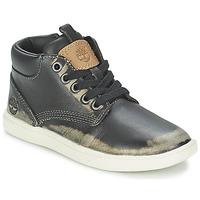 Zapatos Niños Botas de caña baja Timberland GROVETON LEATHER CHUKKA Negro