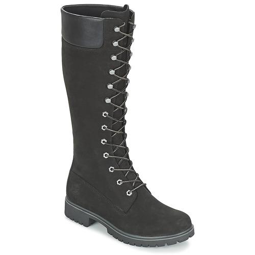 Zapatos Mujer Botas urbanas Timberland WOMEN'S PREMIUM 14IN WP BOOT Negro / Nubuck
