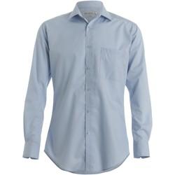 textil Hombre Camisas manga larga Kustom Kit KK113 Azul claro