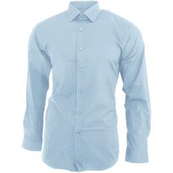 textil Hombre Camisas manga larga Brook Taverner BK130 Azul cielo