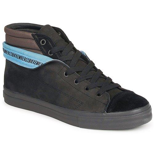 Zapatos de hombres y mujeres de moda casual Bikkembergs PLUS MID SUEDE Negro - Envío gratis Nueva promoción - Zapatos Deportivas altas Hombre