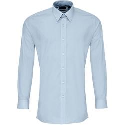 textil Hombre Camisas manga larga Premier PR204 Azul claro