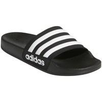 Zapatos Niños Chanclas adidas Originals Adilette Shower K Negros