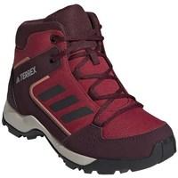 Zapatos Niños Senderismo adidas Originals Hyperhiker K Rojos, Rojo burdeos