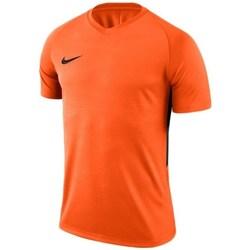 textil Hombre camisetas manga corta Nike Dry Tiempo Prem Jersey De color naranja