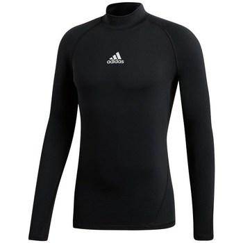 textil Mujer Camisetas manga larga adidas Originals Alphaskin Climawarm Golf Negros