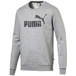 textil Hombre Sudaderas Puma Ess Logo Crew Sweat FL Big Logo ME Grises