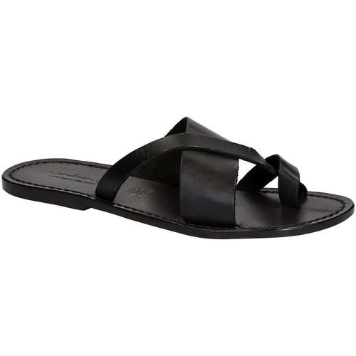 Zapatos Hombre Chanclas Gianluca - L'artigiano Del Cuoio 545 U NERO CUOIO nero