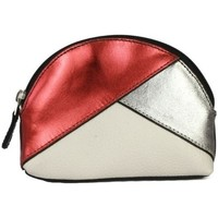 Bolsos Mujer Monedero Eastern Counties Leather  Rojo brillante/Plata/Blanco