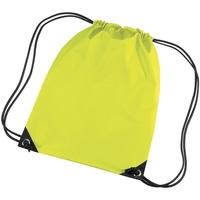 Bolsos Niños Mochila de deporte Bagbase BG10 Amarillo Fluorescente