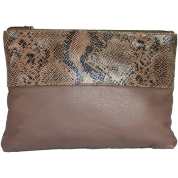 Bolsos Mujer Bolso pequeño / Cartera Eastern Counties Leather  Gris Topo/Beige