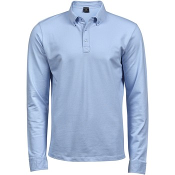 textil Hombre Polos manga larga Tee Jays TJ1412 Azul claro